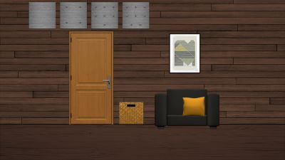The cabin...