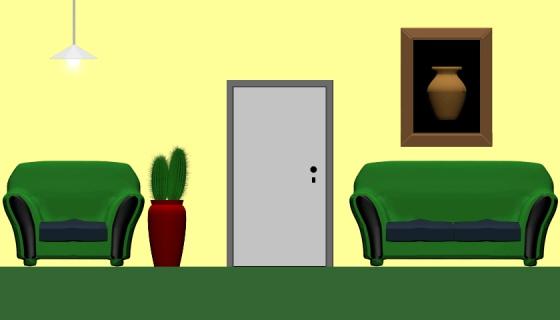 The room with a broken door